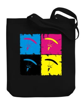 Skydiving - Pop Art Canvas Tote Bag