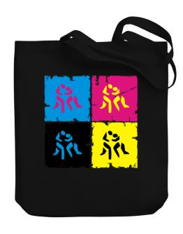 Wrestling - Pop Art Canvas Tote Bag