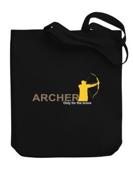 Archery - Only For The Brave Canvas Tote Bag