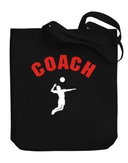 Volleyball Coach Canvas Tote Bag