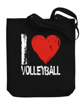 I Love Volleyball Canvas Tote Bag