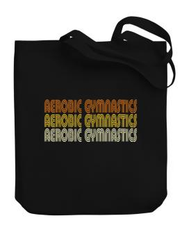 Aerobic Gymnastics Retro Color Canvas Tote Bag