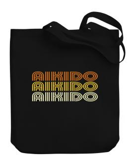 Aikido Retro Color Canvas Tote Bag