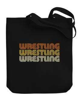 Wrestling Retro Color Canvas Tote Bag