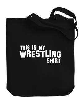 This Is My Wrestling Shirt Canvas Tote Bag