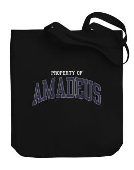 Property Of Amadeus Canvas Tote Bag