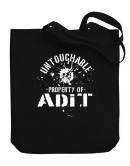 Untouchable : Property Of Adit Canvas Tote Bag