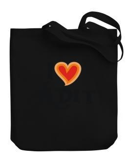I Love Adit Canvas Tote Bag