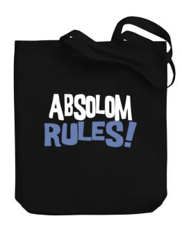 Absolom Rules! Canvas Tote Bag