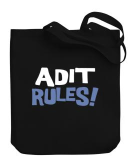 Adit Rules! Canvas Tote Bag