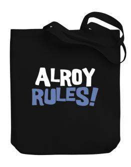 Alroy Rules! Canvas Tote Bag