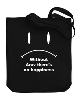 Without Arav There Is No Happiness Canvas Tote Bag