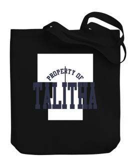 Property Of Talitha Canvas Tote Bag