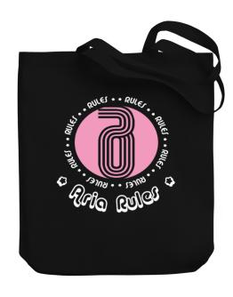 Aria Rules Canvas Tote Bag