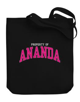 Property Of Ananda Canvas Tote Bag