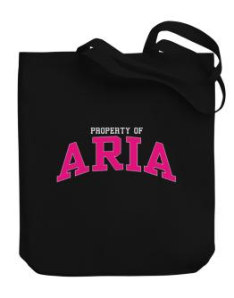 Property Of Aria Canvas Tote Bag