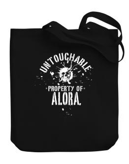 Untouchable Property Of Alora - Skull Canvas Tote Bag