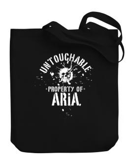 Untouchable Property Of Aria - Skull Canvas Tote Bag