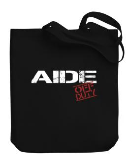 Aide - Off Duty Canvas Tote Bag