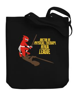 Doctor Of Physical Therapy Ninja League Canvas Tote Bag