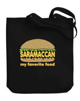 Saramaccan My Favorite Food Canvas Tote Bag