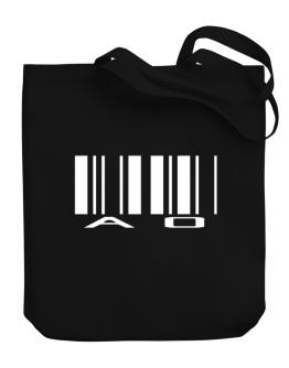 Ao Barcode Canvas Tote Bag