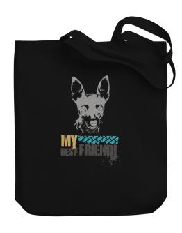 """ Fox Terrier MY BEST FRIEND - URBAN STYLE "" Canvas Tote Bag"