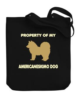 Property Of My American Eskimo Dog Canvas Tote Bag