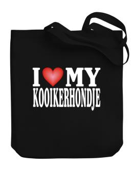 I Love Kooikerhondje Canvas Tote Bag