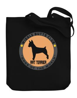 Rat Terrier - Wiggle Butts Club Canvas Tote Bag