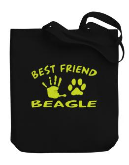 My Best Friend Is My Beagle Canvas Tote Bag