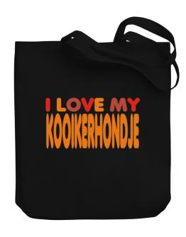 I Love My Kooikerhondje Canvas Tote Bag