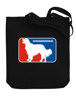 Kooikerhondje Sports Logo Canvas Tote Bag