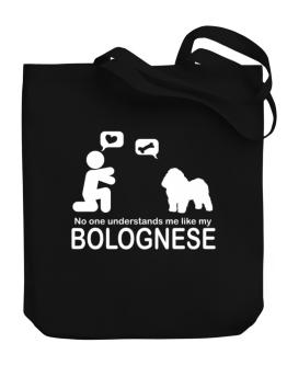 No One Understands Me Like My Bolognese Canvas Tote Bag