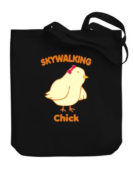 Skywalking Chick Canvas Tote Bag