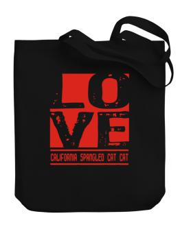 Love California Spangled Cat Canvas Tote Bag