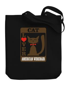 Cat Lover - American Wirehair Canvas Tote Bag