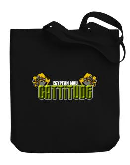 Egyptian Mau Cattitude Canvas Tote Bag