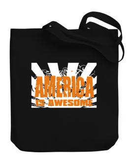 America Is Awesome Canvas Tote Bag
