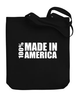 100% Made In America Canvas Tote Bag