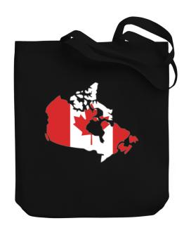 Canada - Country Map Color Simple Canvas Tote Bag
