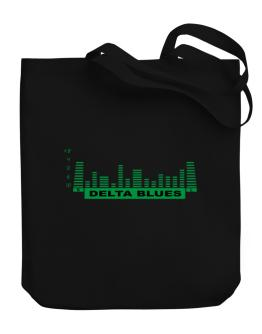 Delta Blues - Equalizer Canvas Tote Bag