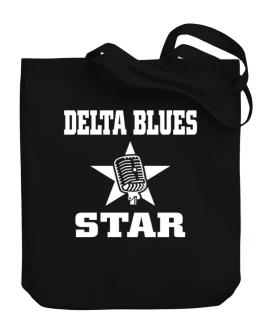 Delta Blues Star - Microphone Canvas Tote Bag