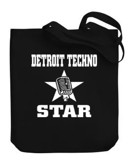 Detroit Techno Star - Microphone Canvas Tote Bag
