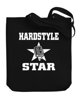 Hardstyle Star - Microphone Canvas Tote Bag