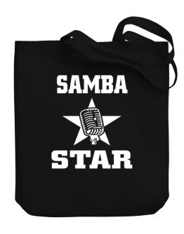 Samba Star - Microphone Canvas Tote Bag