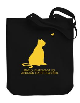 Easily Distracted By Aeolian Harp Players Canvas Tote Bag