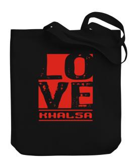 Love Khalsa Canvas Tote Bag