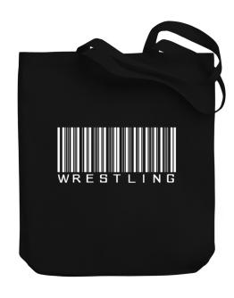 Wrestling Barcode / Bar Code Canvas Tote Bag