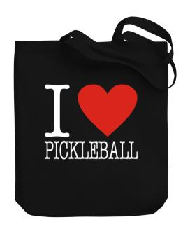 I Love Pickleball Classic Canvas Tote Bag